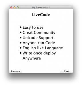 LiveCode as a Presentation Tool