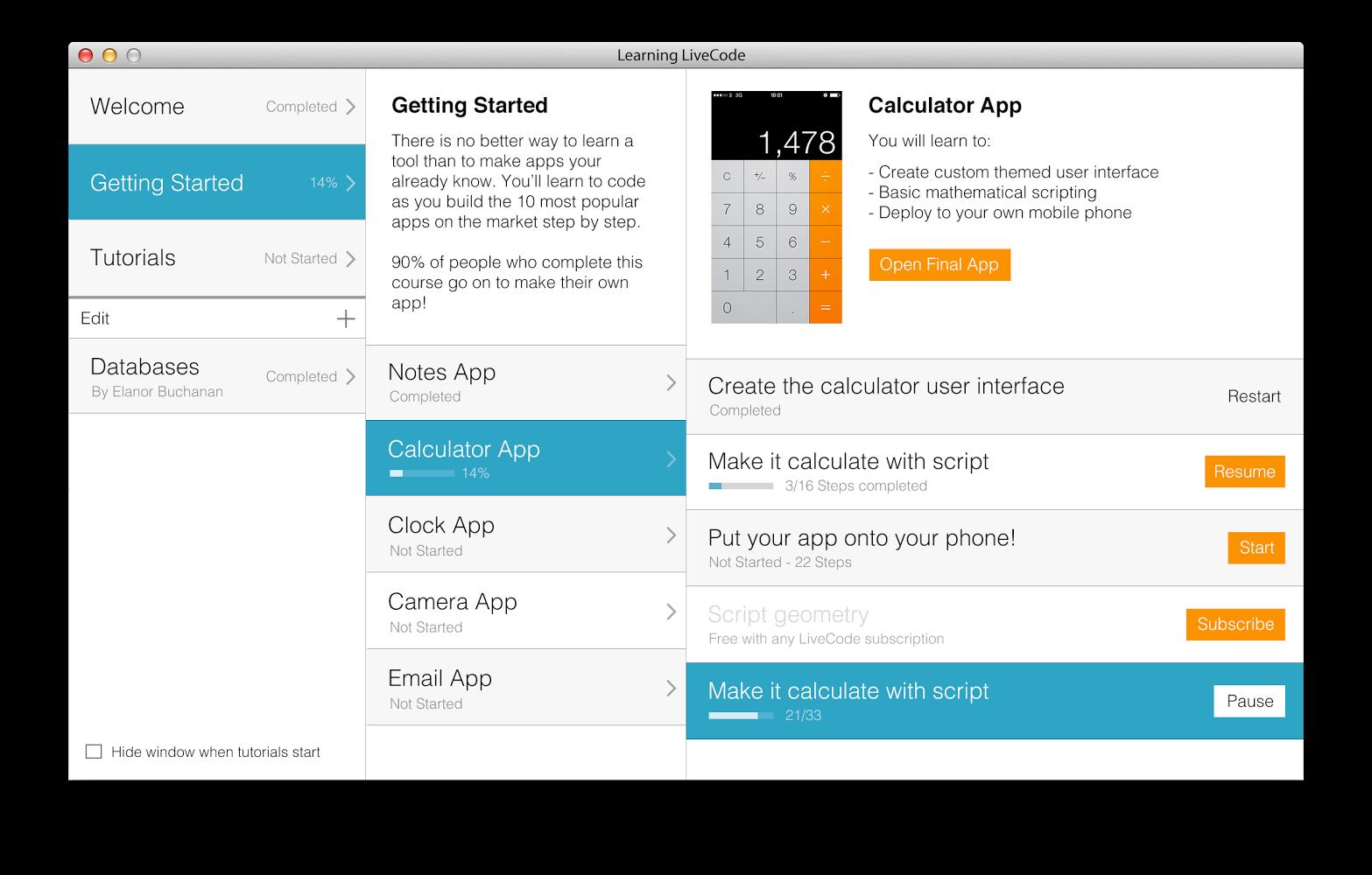 LiveCode Interactive Tutorials   LiveCode