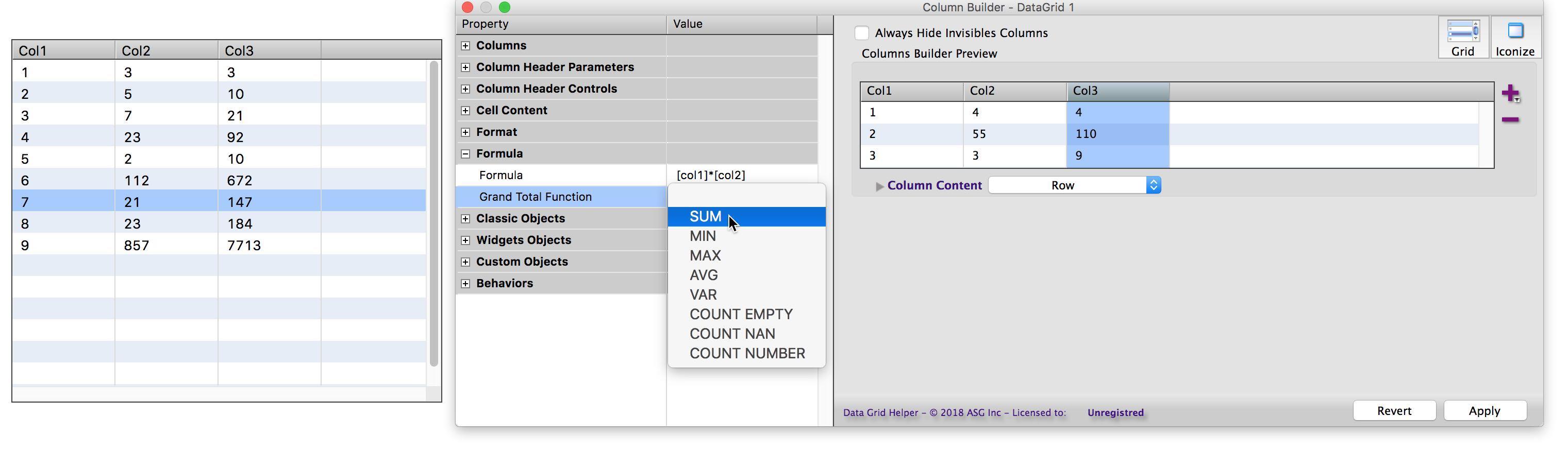Data Grid Helper 2 5 adds support for Datagrid 2   LiveCode